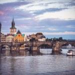 Charles Bridge over Vltava river in Prague, Czech Republic — Stock Photo #48854989