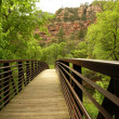 Stock Photo: Oak Creek Canyon Bridge