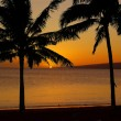 Tropical Hawaiian Island Sunset - Stock Photo