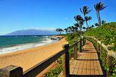 Wailea Beach Pathway, Maui Hawaii — Stock Photo