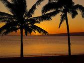 Tropical Hawaiian Island Sunset — Stock Photo