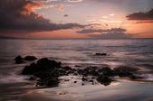 Golden Sunset Keawakapu Beach Maui Hawaii — Stock Photo