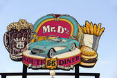 Famous Mr. D'z Route 66 Diner in Kingman Arizona — Stock Photo