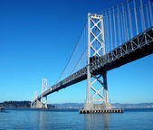 Oakland Bay Bridge, San Francisco Bay, California — Stock Photo