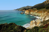A Beautiful View of the California Coastline along State Highway 1 — Stock Photo