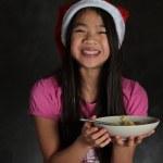 Girl eating — Stock Photo