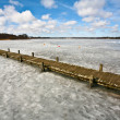 Iced lake — Stock Photo