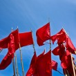 Red flags - Stock Photo