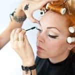 Make up artist at work — Stock Photo #24871067