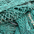 Fishing net on a boat — Stock Photo