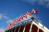 Danish flag — Stock Photo