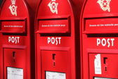 Red post boxes — Stock Photo