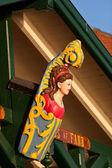 Barco de madera decorativa — Foto de Stock