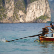 Sailing with a Long tail boat in Thailand — Stock Photo