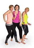 Three woman dancing — Foto de Stock