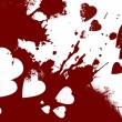 Bloody hearts abstract background — Foto de Stock