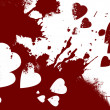 Bloody hearts abstract background — Lizenzfreies Foto