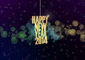 Happy new 2014 year text abstract background — Stock Photo