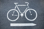 Bicycle road sign — Photo