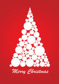 Abstract Christmas Tree with text — Stock Photo