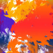 Abstract splatter background — Stock Photo