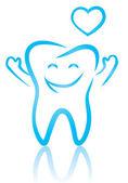 Happy tooth — Vector de stock