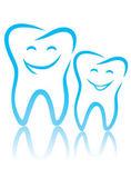 Happy teeth — Stock Vector