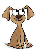Bruin pup — Stockvector