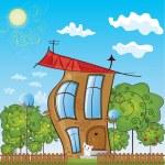 Fairytale cottage — Stock Vector #15715409