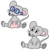 The grey mouse — Stock Vector