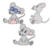 Cute cartoon mouse. vector illustration — Stock Vector