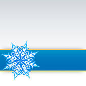 Snowflake on a paper background — Stock Vector