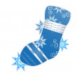 Vector illustration of christmas stocking — Stock Vector