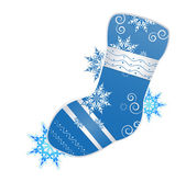 Vector illustration of christmas stocking — Vector de stock
