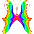 Multicolored butterfly — Stock Vector
