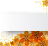 Flowers on a paper background — Stock Vector