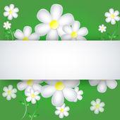 用紙の背景の花 — ストックベクタ
