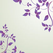 Leaves in the form of abstract banner — Vector de stock