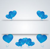 Heart on a paper background — Stock Vector