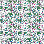 Hand drawing floral background. Seamless pattern — Stock Vector