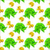 Söta rosetter seamless mönster — Stockvektor