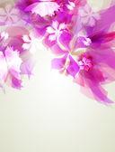 Künstlerische abstrakt mit rosa Blumen-element — Stockvektor
