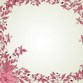 Hand drawn decorative vector background with flowers — Stockvector