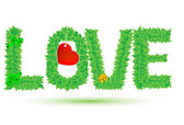 Love of green leaves — Stock vektor