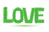 Love of green leaves — Vettoriale Stock