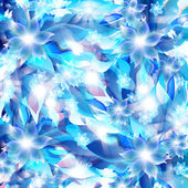 Abstract artistic Background with blue floral element — ストックベクタ