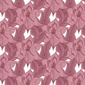 Hand drawing floral background — Vecteur