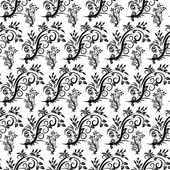 Seamless pattern with flowers in vintage style — Vector de stock