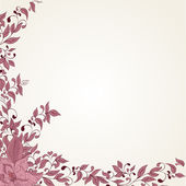 Hand drawing floral background — Stock Vector