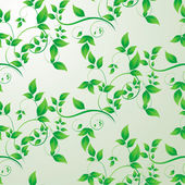 Green leaves seamless background — Stock Vector